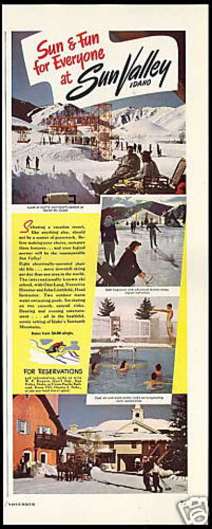 Sun Valley Idaho Ski Skate Swim 4 Photo (1949)