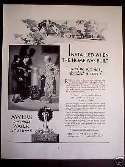 Myers Self-oiling Water Systems (1931)