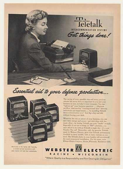 Webster Electric Teletalk 600 Intercom System (1951)