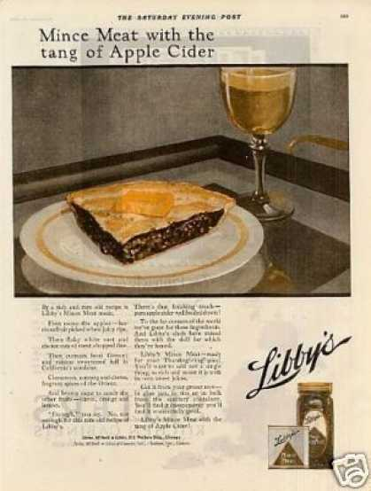 Libby&#8217;s Mince Meat Color (1920)