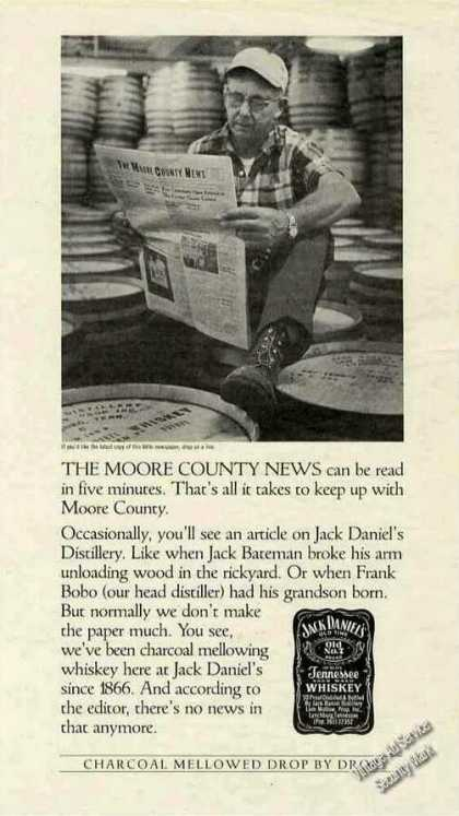 Jack Daniel's Whiskey Moore County News Barrels (1985)