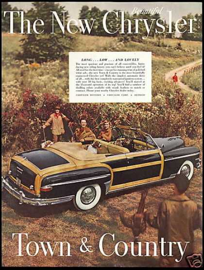 Chrysler Town & Country Car Pheasant Hunt Dogs (1950)