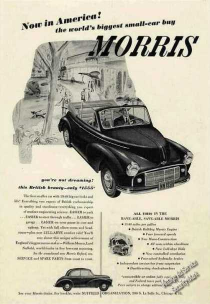 "Morris ""World's Biggest Small-car Buy"" Photos (1949)"