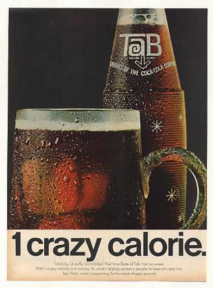 Tab Cola 1 Crazy Calorie Bottle Mug (1966)