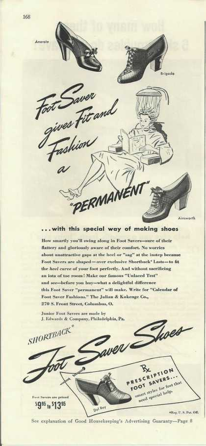 Shortback Foot Saver Shoes (1942)