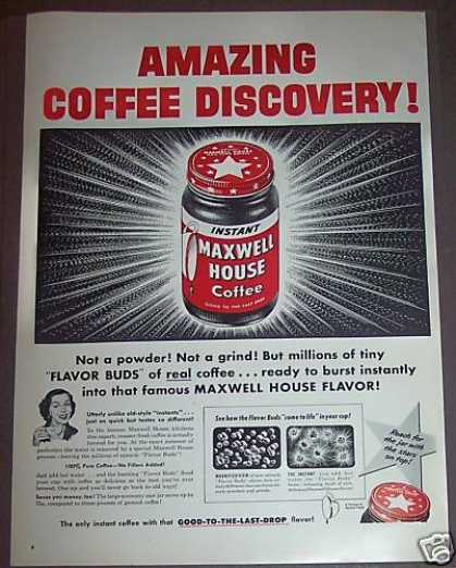 Instant Maxwell House Coffee (1953)
