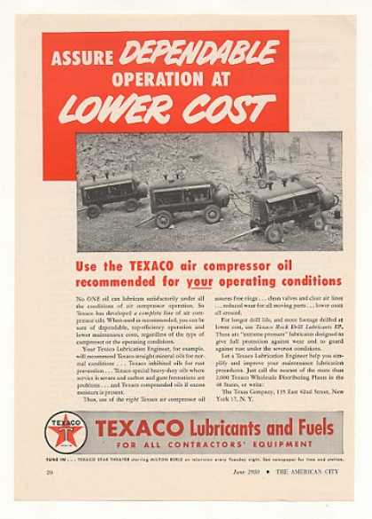 Texaco Air Compressor Oil Vintage (1950)