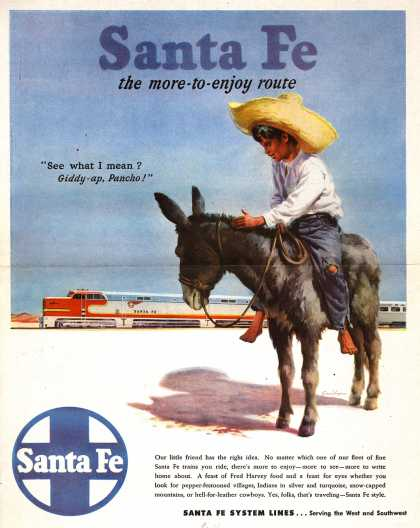 Santa Fe System Lines – Santa Fe the more-to-enjoy route (1947)