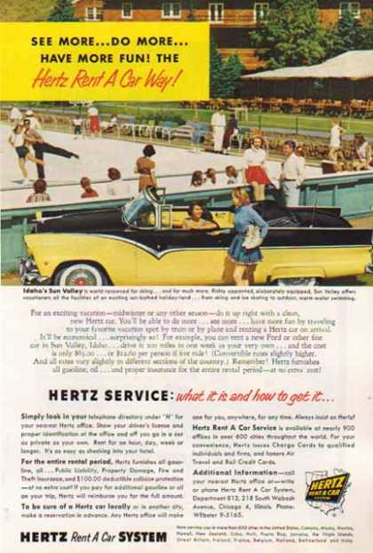 Hertz Rental Car – Ford Convertible – Sold (1957)