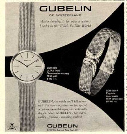 Gubelin Watch Jeweled Cover (1960)