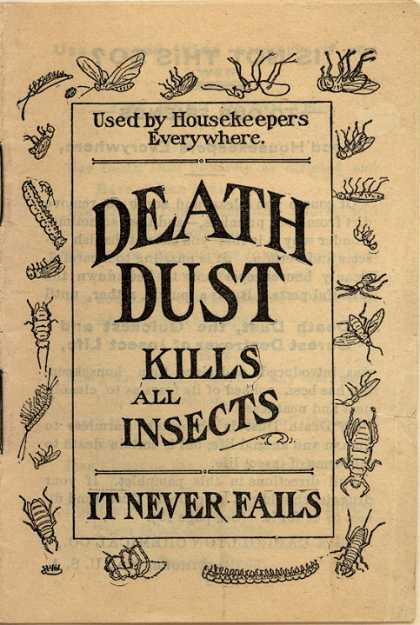 Carrollton Chemical Co.'s Death Dust – Death Dust Kills All Insects