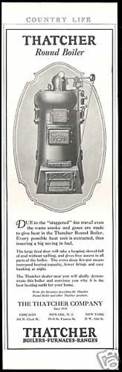 Thatcher Company Round Boiler Vintage (1927)