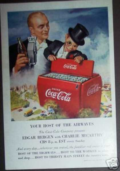 Coca-cola Coke Edger Bergen Charlie Mccarthy (1950)