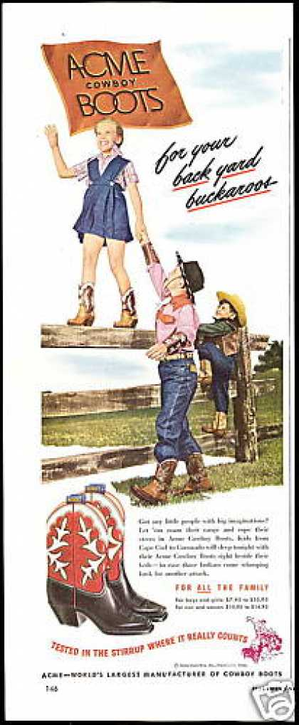 Acme Boots Cowboy Cowgirl Photo (1948)