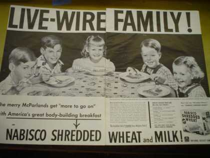 Nabisco Shredded Wheat. The merry McParlands Quintuplets (1951)