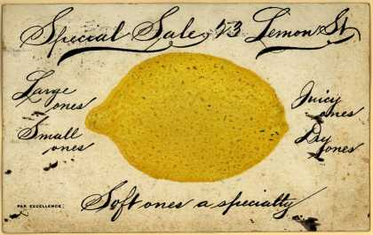 Unknown&#8217;s lemons &#8211; Special Sale: 23 Lemon St. (1907)