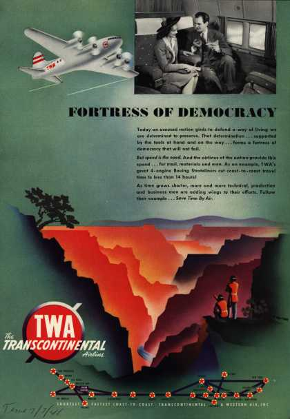 Transcontinental & Western Air's Air Travel – Fortress Of Democracy (1941)