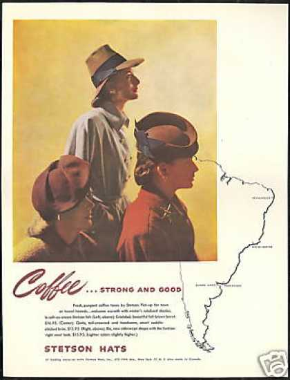Stetson Coffee Tone Women's Hat Photo Vintage (1946)