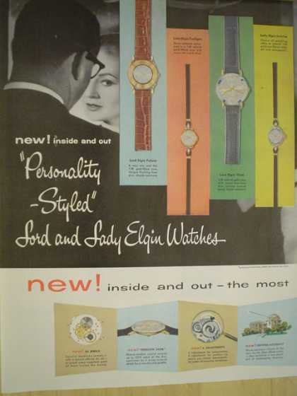 Lord and Lady Elgin watches Personality styled. Inside and out the most (1957)