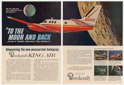 Beechcraft King Air Airplane to Moon Photo 2-Pg (1965)