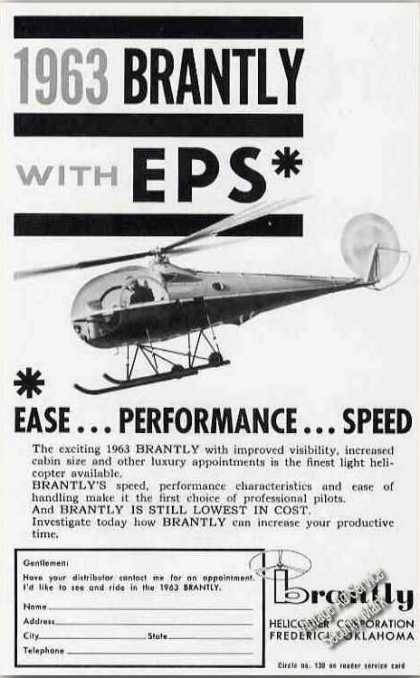 Brantley Helicopter With Eps Frederick Ok (1963)
