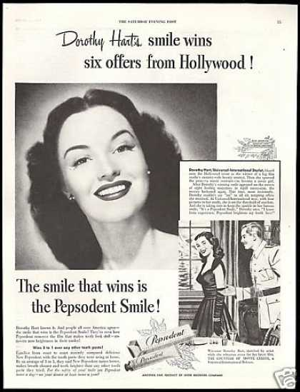 Dorothy Hart Photo Pepsodent Tooth Paste (1949)