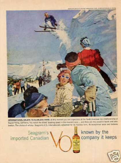 Seagram's V.o. Whiskey Ad Squaw Valley, Ca (1959)