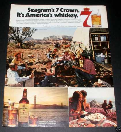Segram's Seven Crown Whiskey, Exc (1972)