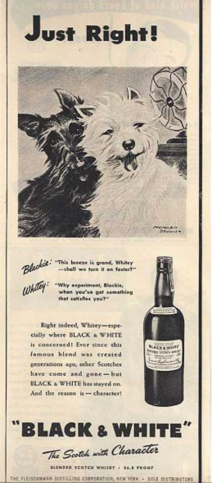Black and White's The Scotch with Character (1946)