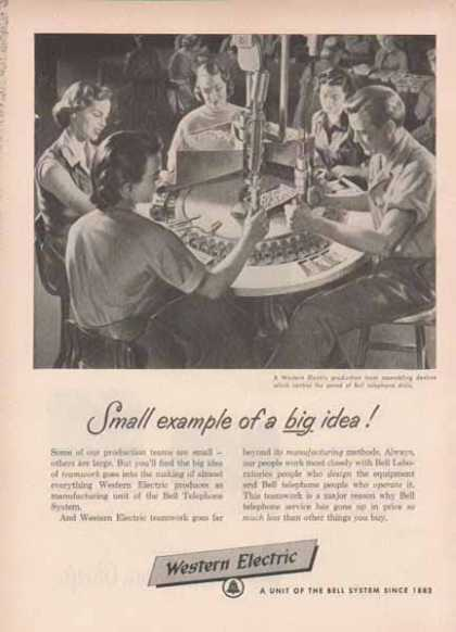 Western Electric Bell System – Small example of a big idea (1952)