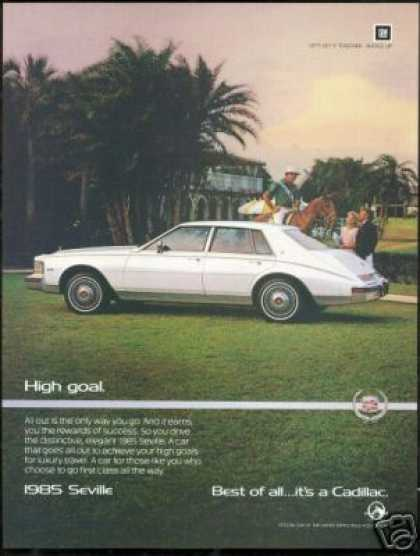 Cadillac Seville Polo Player Photo Vintage Car (1985)