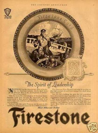 "Firestone Tire Ad ""The Spirit of Leadership... (1923)"