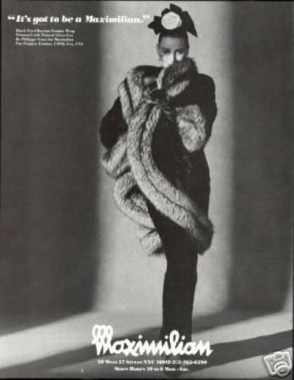 Maximilian Fox Ermine Fur Wrap Photo (1987)