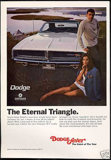 Dodge Charger RT R/T Car Photo Vintage (1969)