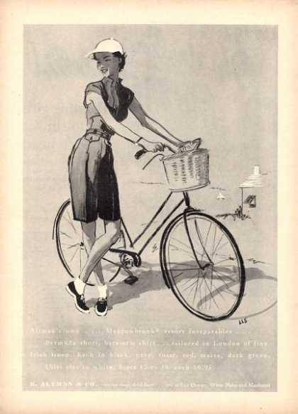 B. Altman & Co. Bike Lady Art Lls (1952)