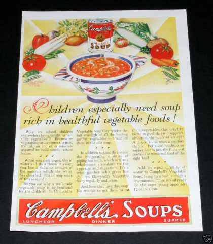 Campbell's Vegetable Soup, Rich (1929)