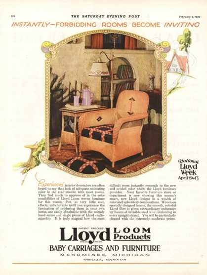 Lloyd Loom Furniture Interiors, USA (1929)