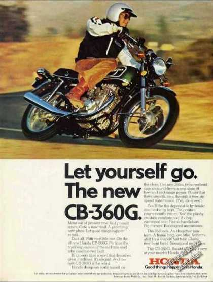 "Honda Cb-360g Motorcycle ""Let Yourself Go"" (1974)"