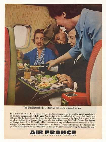 William MacMichael Family Sherman TX Air France (1963)