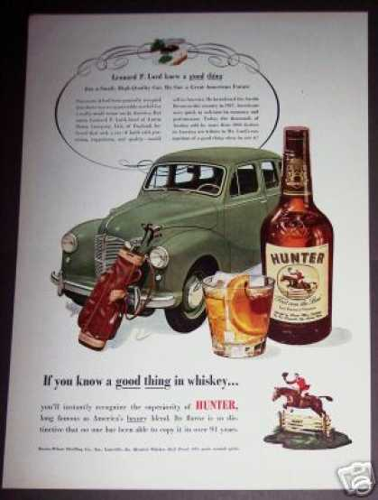 Austin Motor Car Hunter Whiskey (1951)