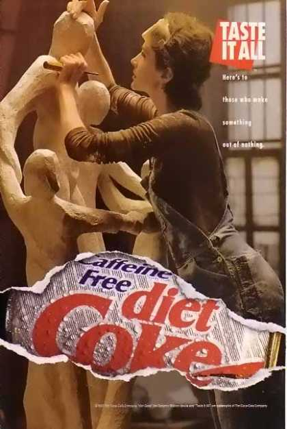 Coke Caffeine Free Diet Coke Sculpturing (1993)