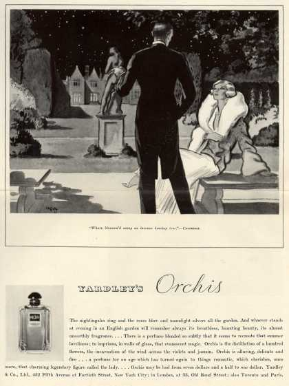 Yardley & Co., Ltd.'s Orchis perfume – Yardley's Orchis (1932)