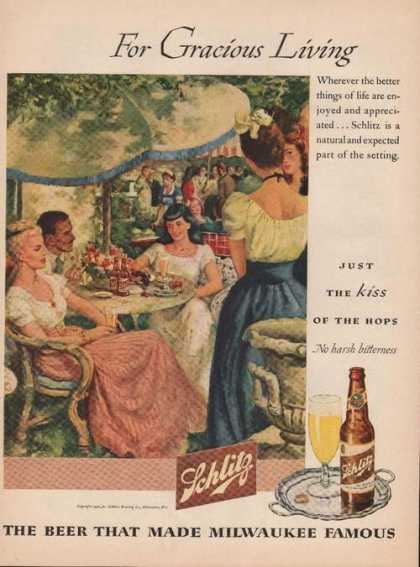 For Gracious Living Schlitz Beer (1946)