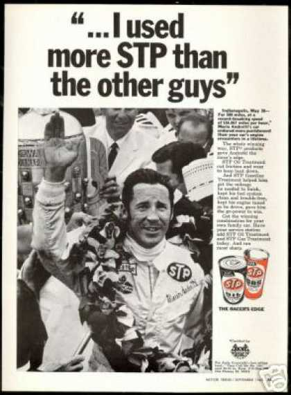 Mario Andretti Photo Indy 500 STP Vintage (1969)
