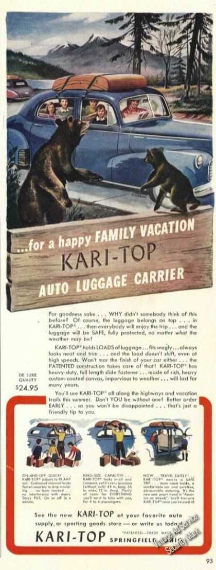 Kari-top Auto Luggage Carrier Springfield Oh (1947)