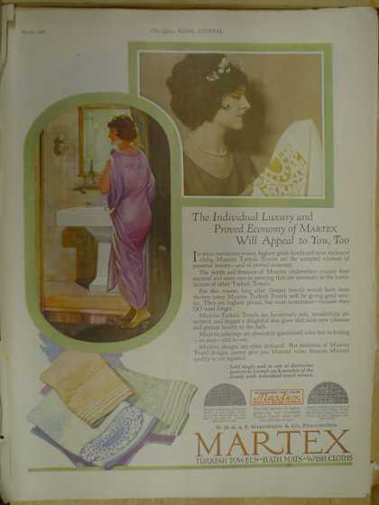 Martex Turkish Towels. Martex will appeal to you too (1926)