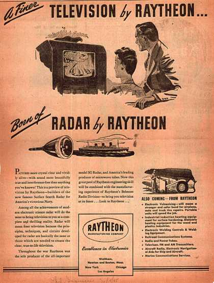 Raytheon Manufacturing Company's Raytheon Electronics – Television by Raytheon (1945)