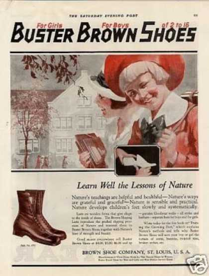 Buster Brown Shoes Color (1920)