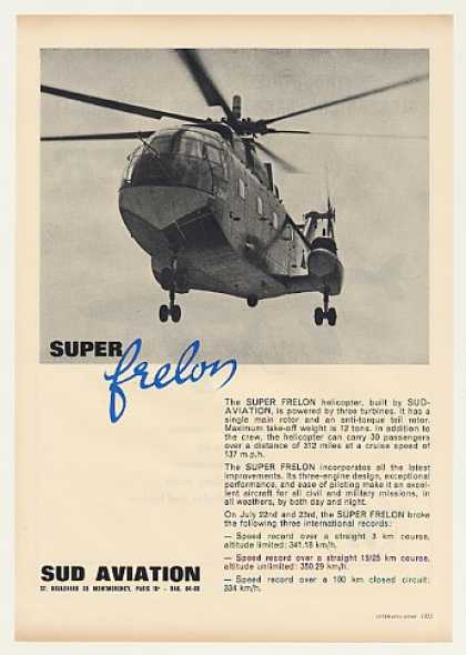 Sud Aviation Super Frelon Helicopter Photo (1963)