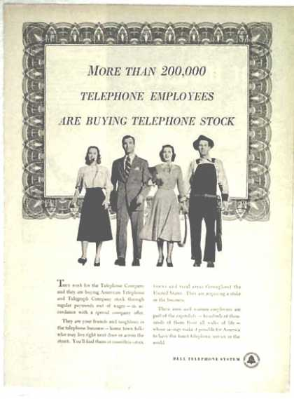 Bell Telephone – 200,000 Employees Are Buying Stock (1948)